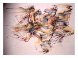 Coureurs Reproduction proc&#233;d&#233; gicl&#233;e
