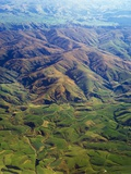 Rolling hills in Southland Region of New Zealand Photographic Print by Jason Hosking