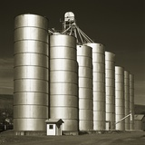 Silver Grain Elevators Photographic Print by Tom Marks