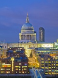 St Paul's Cathedral at night, London Photographic Print by Pawel Libera