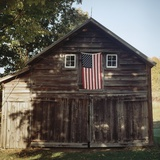 Flag Barn Photographic Print by Sarah Blodgett