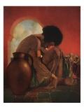 Third Voyage of Sinbad Giclee Print by Maxfield Parrish