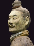 Terra cotta warrior with color still remaining, Emperor Qin Shihuangdi's Tomb, Xian, Shaanxi, China Photographic Print by Keren Su