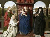 The Virgin and Child with Saints and Donor Fotografisk tryk af  Jan van Eyck