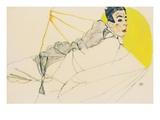 Reclining Boy (Erich Lederer) Giclee Print by Egon Schiele