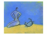Woman and Crab Giclee Print by Marie Bertrand