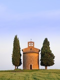 Chapel and cypress trees Photographic Print by Frank Lukasseck