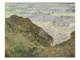 The Cliff at Pourville Giclee Print by Claude Monet