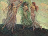 Three Dancers Photographic Print by Louis F. Berneker