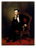 Abraham Lincoln Reproduction procédé giclée par George P.A. Healy