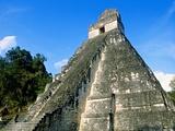 Temple I, The Great Plaza, Tikal National Park, Peten, Guatemala Photographic Print by Blaine Harrington