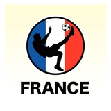 France Soccer Reproduction proc&#233;d&#233; gicl&#233;e