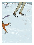 Ice Skating Rink Giclee Print