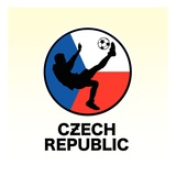 Czech Republic Soccer Reproduction procédé giclée