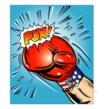 American Boxing Glove Giclee Print
