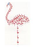 Nonconformist blue flamingo Reproduction procédé giclée par Julie Nicholls