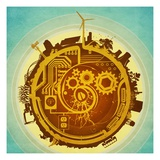 Mechanized World Giclee Print