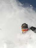 Skier in deep powder at Alta, Utah Photographic Print by Lee Cohen
