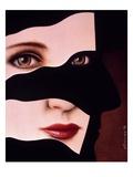 Woman/Man Face Giclee Print