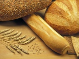 Bread and Wheat, Winnipeg, Manitoba, Canada Photographic Print by Mike Grandmaison