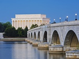 Arlington Memorial Bridge and Lincoln Memorial in Washington, DC Photographic Print by Rudy Sulgan