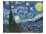 星月夜(糸杉と村) 1889年 ジクレープリント : フィンセント・ファン・ゴッホ