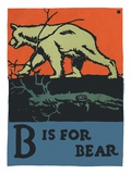 B is for bear Giclee Print