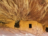 USA Utah House of Fire Indian ruins in North Fork of Mule Canyon in the Cedar Mesa Photographic Print by Fotofeeling 
