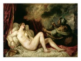 Danae Receiving the Shower of Gold Giclee Print by  Titian (Tiziano Vecelli)