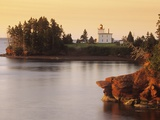Blockhouse Lighthouse, Rocky Point, Prince Edward Island, Canada Photographic Print by  Barrett & Mackay