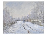 Snow Scene at Argenteuil Giclee Print by Claude Monet