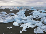 Stranded drift ice at Jokulsarlon Photographic Print by Frank Krahmer