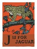 J is for jaguar Impression giclée