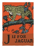 J is for jaguar Giclee Print