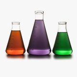 Chemistry beakers Photographic Print by Mike Kemp