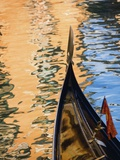 Gondola on a canal Photographic Print by Jean-pierre Lescourret