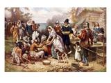 The First Thanksgiving 1621 Reproduction procédé giclée