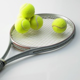 A Tennis Racket and Balls Photographie
