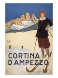 Cortina d&#39;Ampezzo poster Reproduction proc&#233;d&#233; gicl&#233;e
