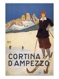Cortina d'Ampezzo poster Giclée-tryk
