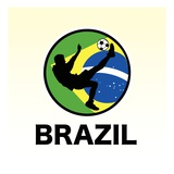 Brazil Soccer Reproduction proc&#233;d&#233; gicl&#233;e