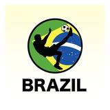 Brazil Soccer Giclee Print