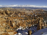 Snow at Sunset Point in Bryce Canyon National Park Photographic Print by Danny Lehman