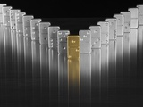 Gold and silver dominoes Photographic Print