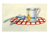 Illustration of place setting for child Giclee Print