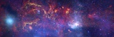 Central Region of the Milky Way Galaxy Papier Photo