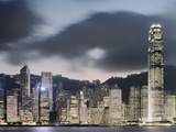 Hong Kong Skyline and financial district at dusk Photographic Print by Martin Puddy