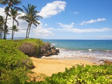 Secluded Po'olenalena Beach on Maui Photographic Print by Ron Dahlquist