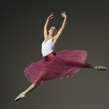 Female Ballet Dancer Jumping Photographic Print by Erik Isakson