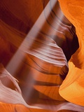 USA Arizona Upper Antelope Canyon Sunbeams Photographic Print by Fotofeeling 